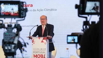 João Matos Fernandes falou na sessão de abertura do Portugal Mobi Summit, em Cascais.