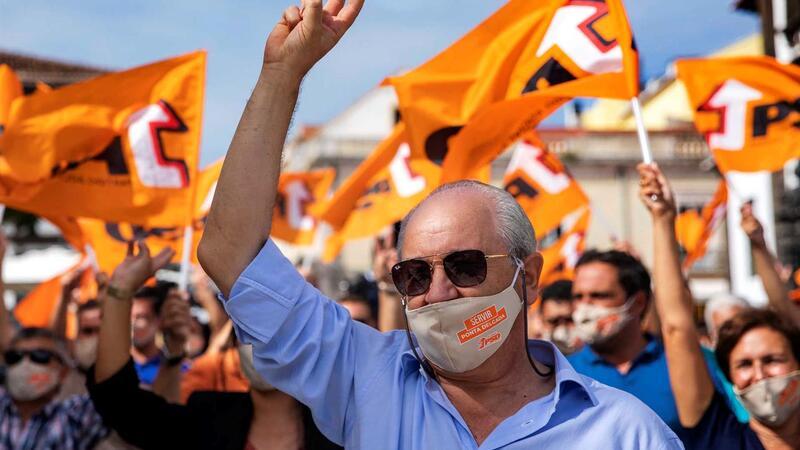 Rui Rio, líder do PSD em campanha eleitoral autárquica