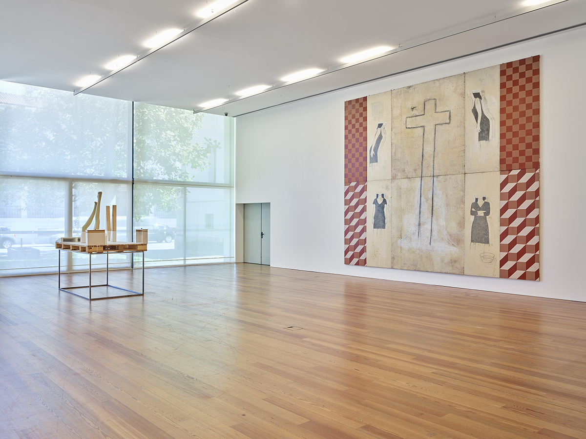 Em Aveiro ficou a sua obra Sic Ut Dolores Meus, uma obra pictórica em 10 painéis, concebida originalmente
