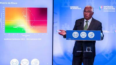 António Costa apresentando as conclusões da reunião de ontem do Conselho de Ministros