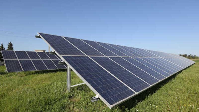 Estação de energia solar