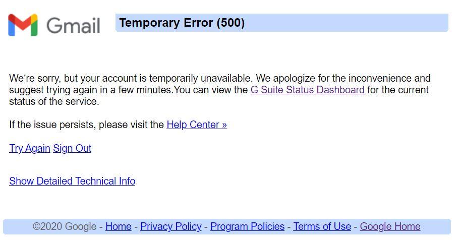 Gmail, YouTube e outros produtos do Google estão enfrentando falhas de serviço