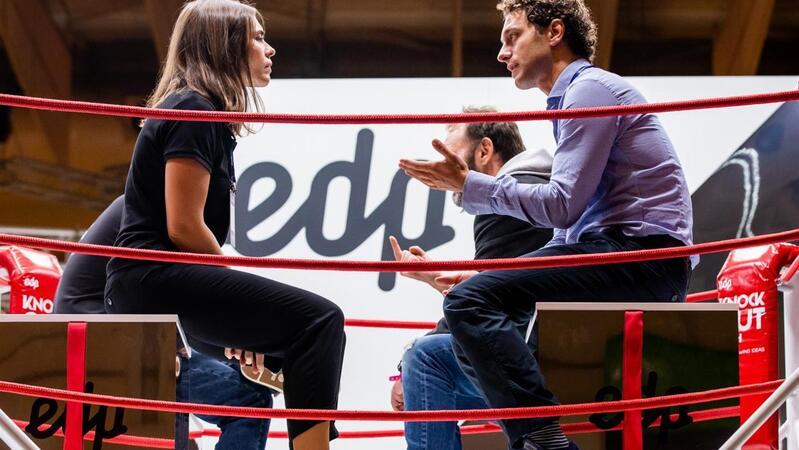 Startups propõem-se para investimento no espaço da EDP na Web Summit de 2019.