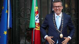 Tomada de posse de Carlos Moedas como presidente da Câmara de Lisboa para 2021-2025, nos Paços do Concelho.
