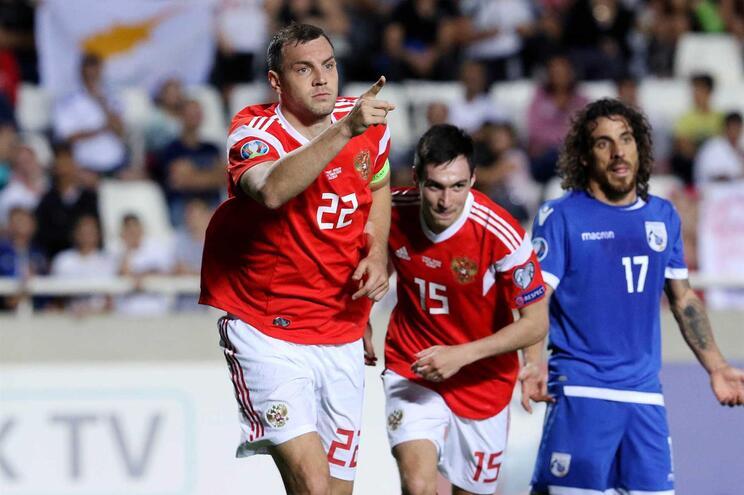 Rússia vence no Chipre e está pela quinta vez na fase final de um Europeu