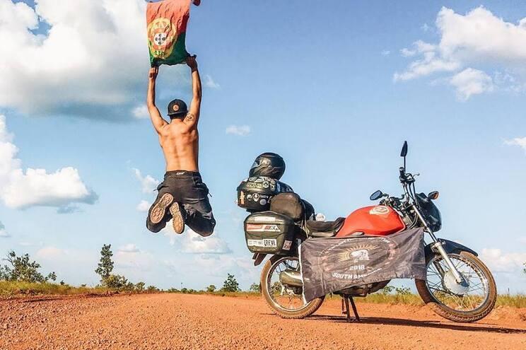 André Sousa já correu a América do Sul numa mota de 125 cc