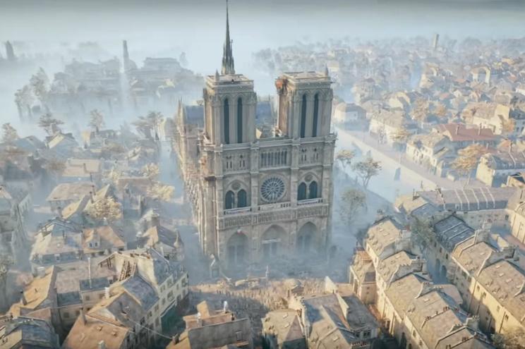 Cena do jogo Assassin's Creed Unity
