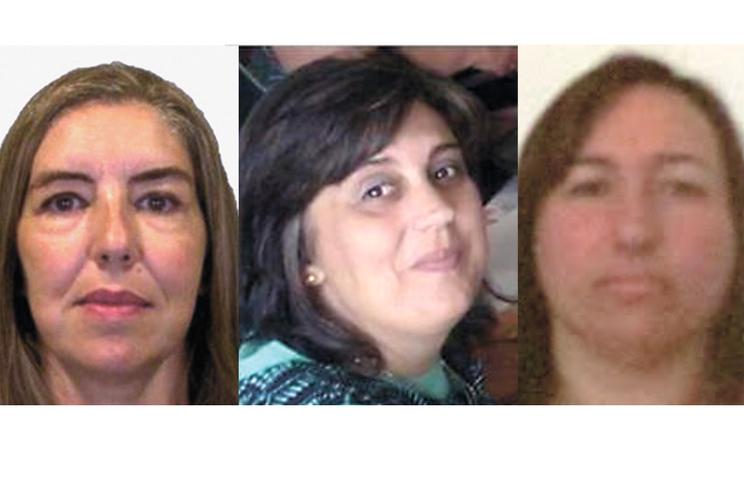 Elizabete, Marina e Rosa morreram