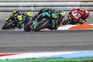 epa08591660 Italian MotoGP rider Franco Morbidelli (C) of Petronas Yamaha SRT team during the qualification