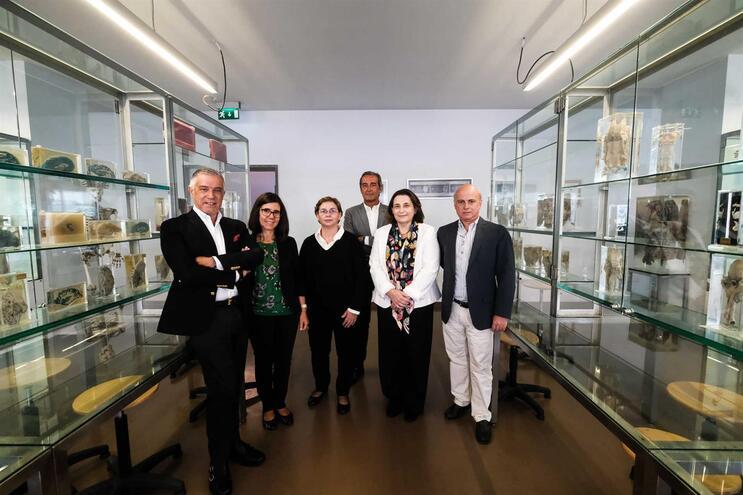 Os coordenadores dos cursos, Alberto Caldas Afonso, Paula Proença, Rosário Almeida, Henrique Cyrne Carvalho