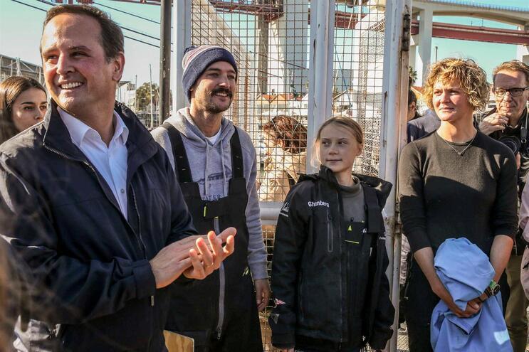 Presidente da Câmara de Lisboa, Fernando Medina, recebeu Greta Thunberg