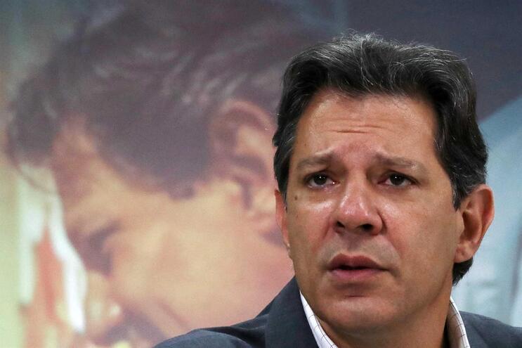 Candidato do Partido dos Trabalhadores, Fernando Haddad, às eleições presidenciais do Brasil