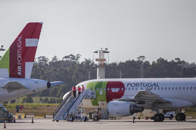 TAP Air Portugal no aeroporto Francisco Sá Carneiro, no Porto
