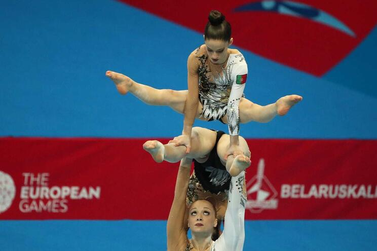 Ginástica acrobática dá primeira medalha a Portugal em Minsk