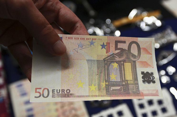 Notas de 20 euros (3.279) e de 50 euros (3.228) entre as mais apreendidas