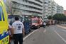 Quatro feridos após desabamento atingir metro na Linha Azul