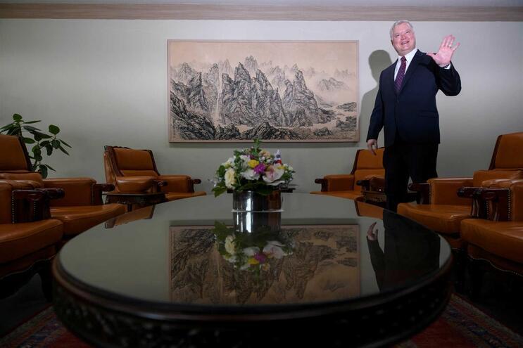 O enviado norte-americano para a Coreia do Norte, Stephen Biegun