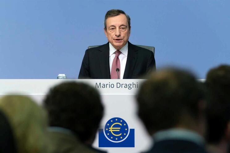 O presidente do Eurogrupo, Mario Draghi