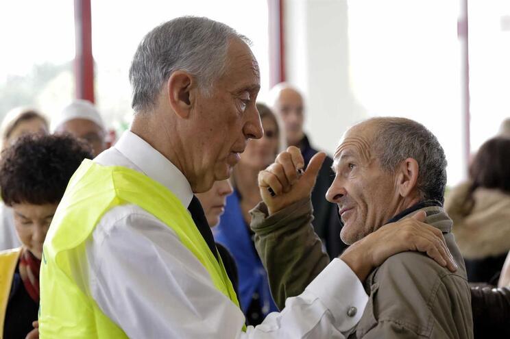 Presidente da República almoçou com sem-abrigo em Lisboa