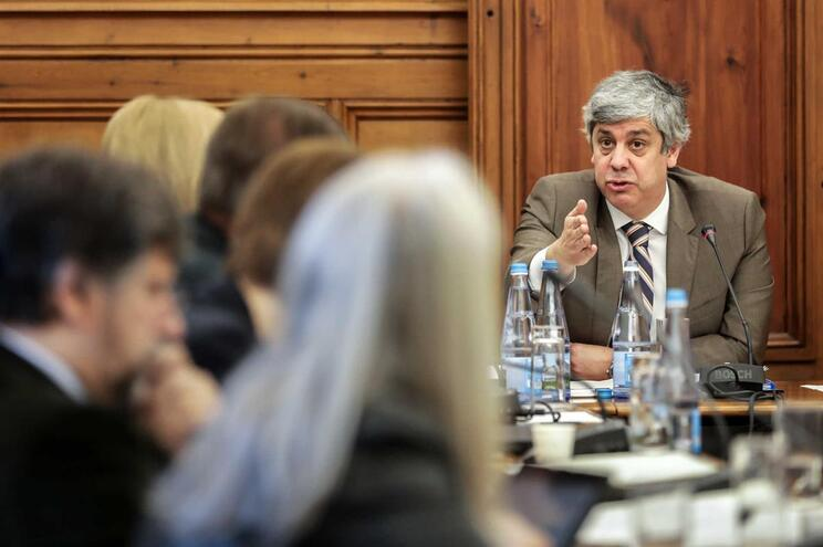 Mário Centeno no Parlamento