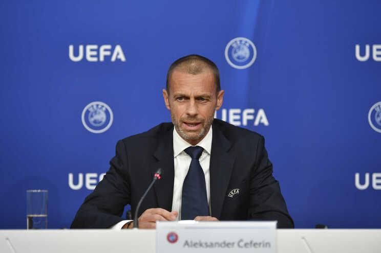 O presidente da UEFA Aleksander Ceferin