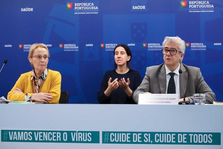 Graça Freitas e António Lacerda Sales em conferência de imprensa