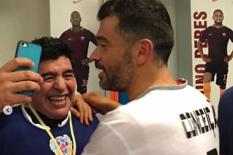 Sérgio Conceição e Maradona