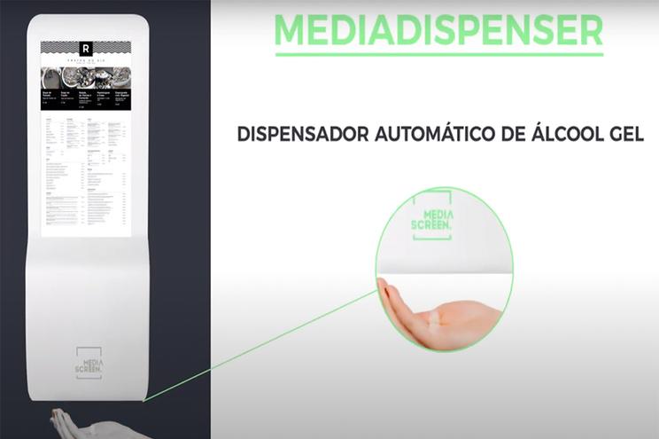 Empresa portuguesa cria ementa digital que também desinfeta as mãos
