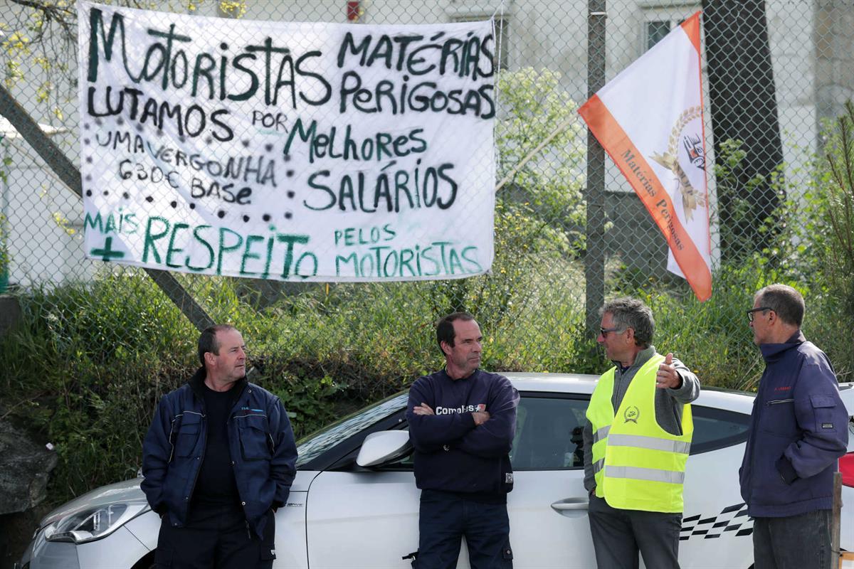 Motoristas de transporte de matérias perigosas estão em greve