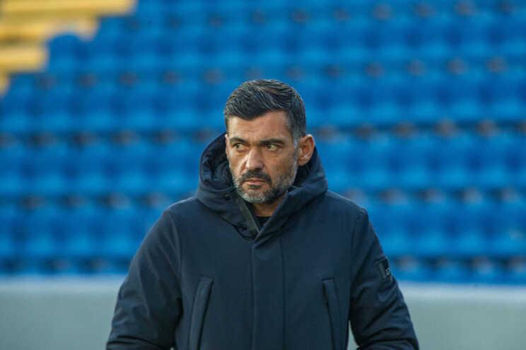 O treinador do F. C. Porto, Sérgio Conceição