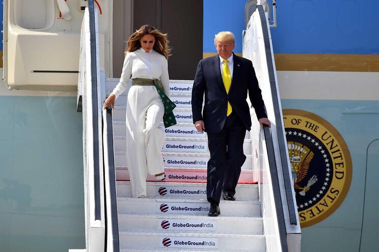 O Presidente dos Estados Unidos está na Índia para uma visita de dois dias