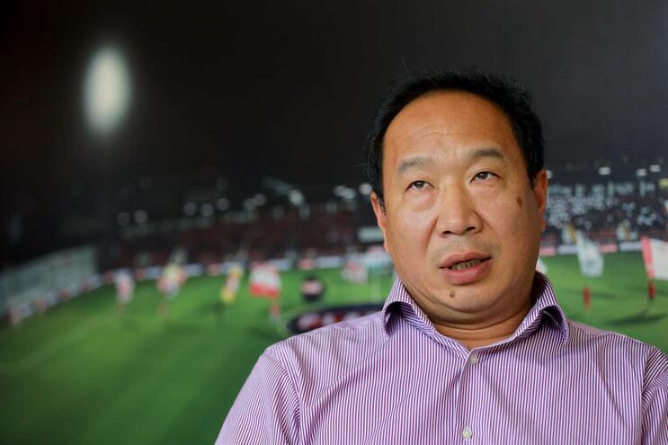 O presidente da SAD do Clube Desportivo das Aves, Wei Zhao