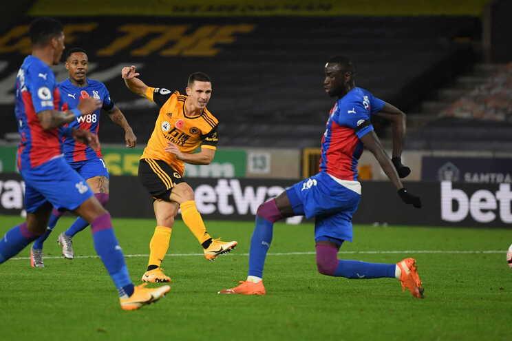 Daniel Podence marcou para o Wolverhampton frente ao Crystal Palace