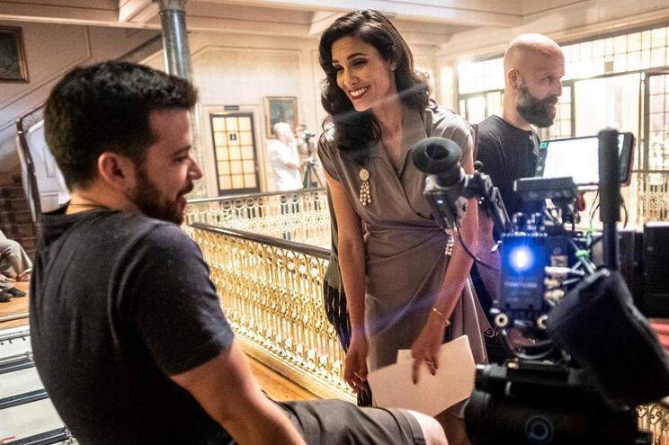 """Daniela Ruah durante as gravações da série """"Espia"""", no Porto"""