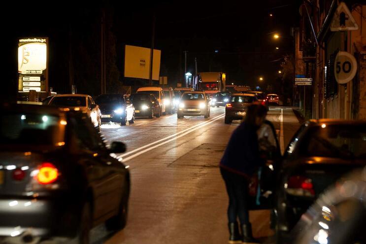 A estrada N13 em Moreira da Maia