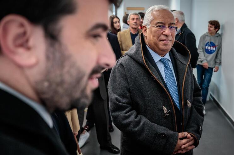 Tiago Brandão Rodrigues e António Costa