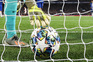 epa07975276 Goalkeeper Kepa of Chelsea takes the ball out of the net after Ajax scored during the UEFA