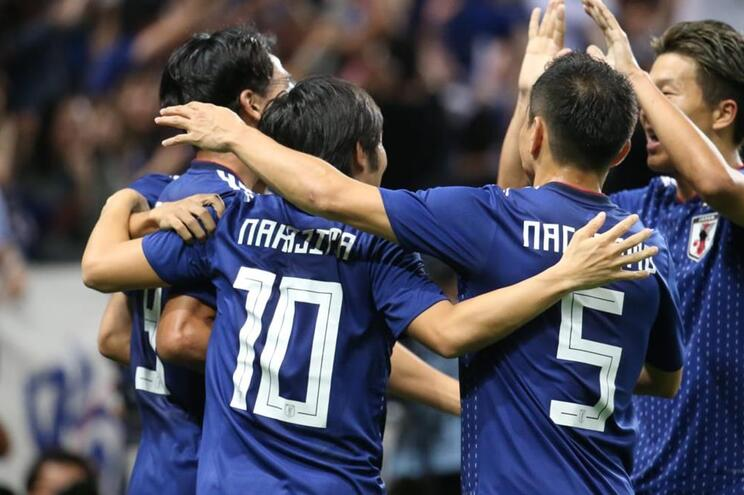 """Nakajima e os """"Samurai Blue"""" na festa do golo"""