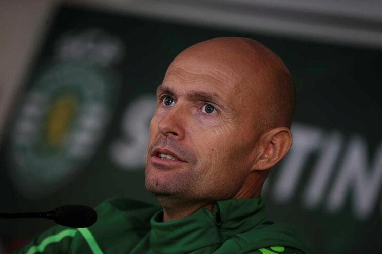 O treinador do Sporting Marcel Keizer