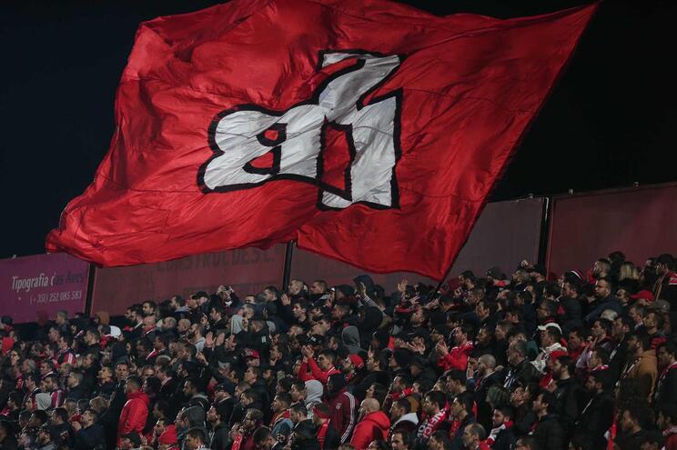 Benfica chegou nesta sexta-feira a Gaia