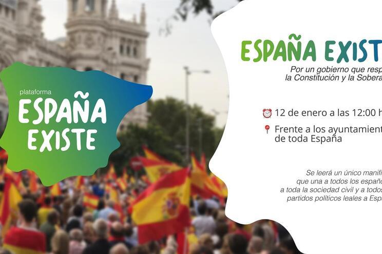 Extrema-direita espanhola inclui Portugal no mapa do país vizinho