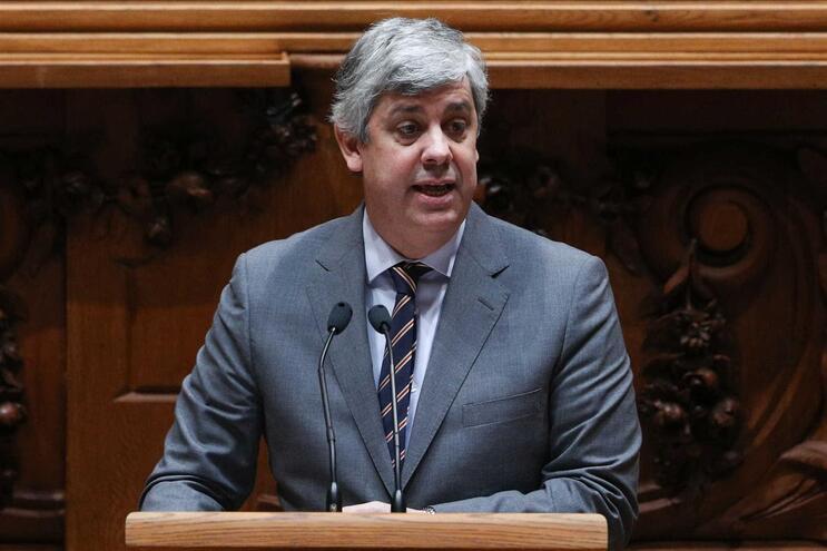 Mário Centeno, ministro das Finanças, durante debate do Orçamento do Estado