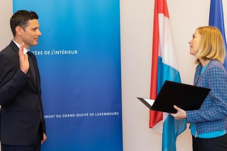 Paulo Aguiar prestou juramento junto da ministra do Interior, Taina Bofferding