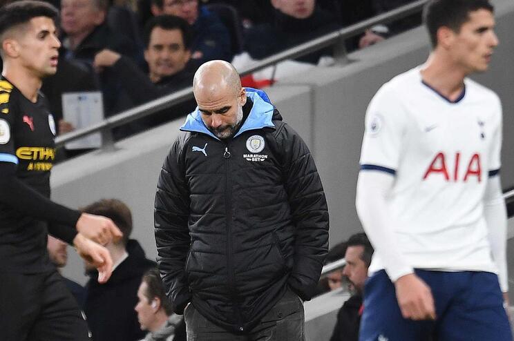 O Manchester City de Guardiola está em risco na liga milionária