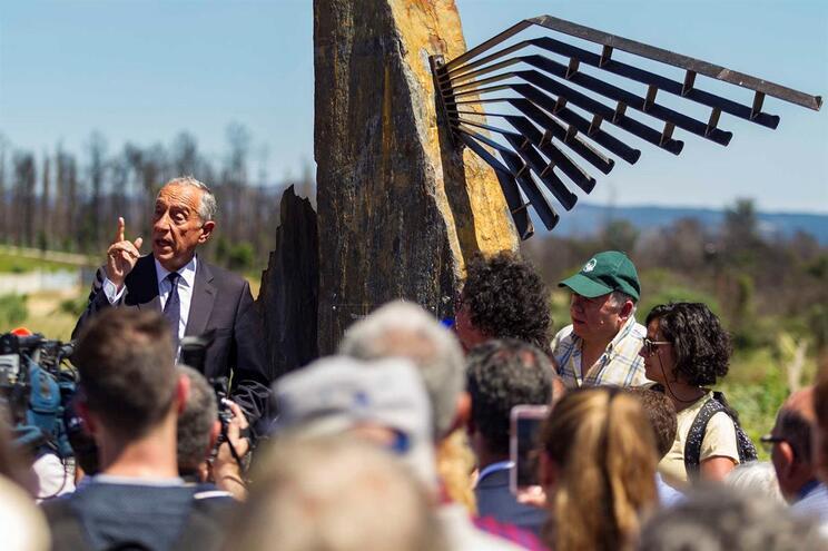 Presidente da República, Marcelo Rebelo de Sousa, na aldeia de Nodeirinho onde se inaugurou o Memorial