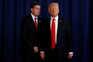 """Donald Trump desejou """"o melhor"""" para Rob Porter (à esquerda na foto)"""