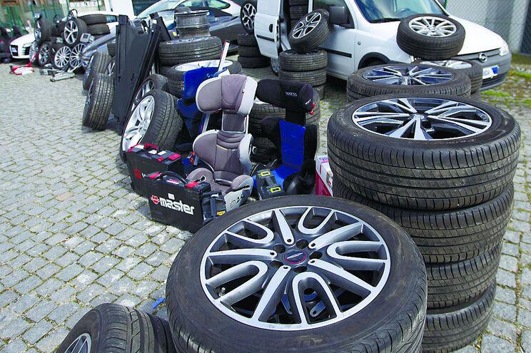 Gangue das jantes lucra milhares de euros em assaltos a carros de luxo