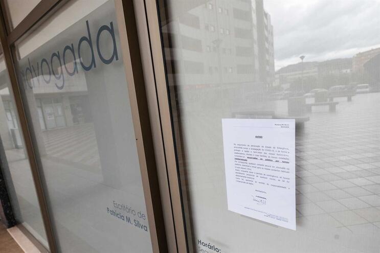 Escritório da advogada, onde decorreu a reunião situa-se no centro de Vizela. Ontem, quarta-feira, estava