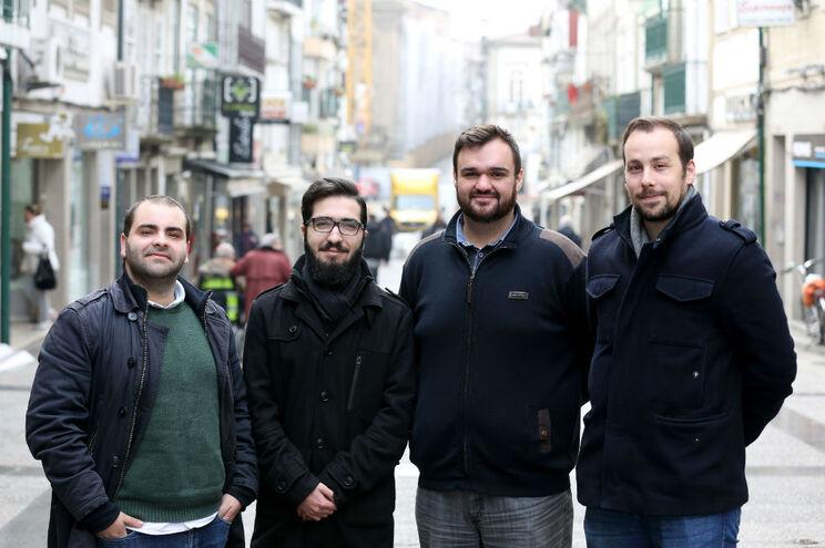 Adolfo Ferreira,   Carlos Braga,   Manuel Crispim e Hélder Ferreira