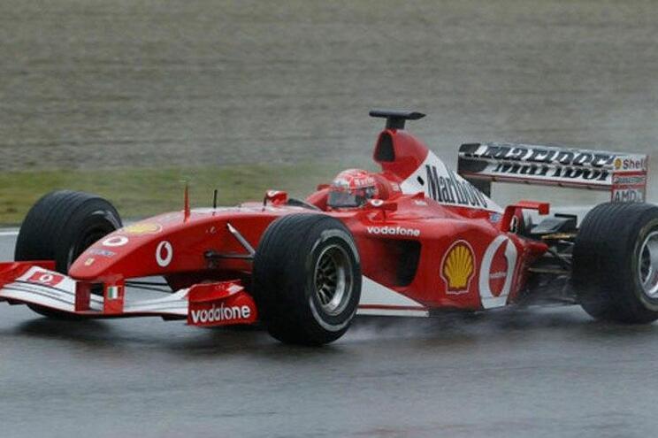 F1 de Schumacher à venda